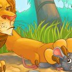 นิทานภาษาอังกฤษ สิงโตกับหนู เรียนรู้คำศัพท์ ประโยค ภาษาอังกฤษ