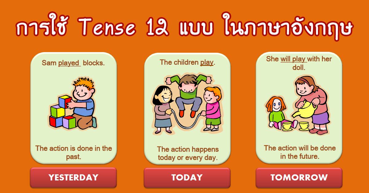 Tense ภาษาอังกฤษ ทั้ง 12 Tense