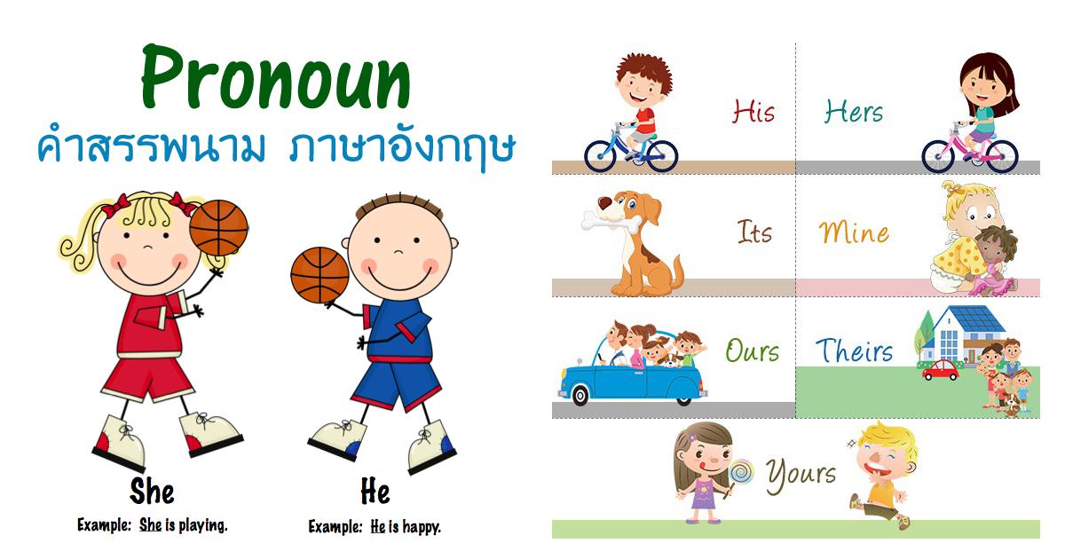 คำสรรพนาม ภาษาอังกฤษ