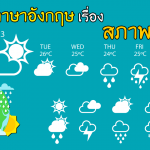 คำศัพท์ ประโยค ภาษาอังกฤษ สภาพอากาศ อากาศดี ไม่ดี พยากรณ์อากาศ อุณหภูมิ