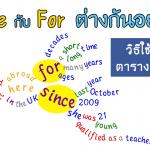 Since กับ For แตกต่างกันอย่างไร ใช้อย่างไร อธิบาย สรุป เรียนการใช้ในภาษาอังกฤษ